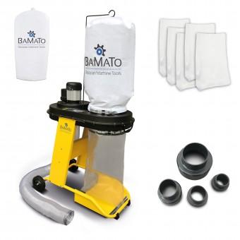 BAMATO Absauganlage AB-550 inkl. Adapter Set und 5 Spänesäcke