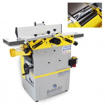 BAMATO Abricht- und Dickenhobelmaschine mit Spiralmesserwelle BHM-250PRO (400V)
