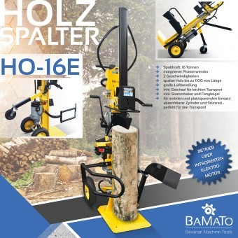 BAMATO 16 to Holzspalter mit Elektroantrieb HO-16E
