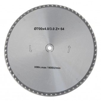 BAMATO 700mm HM-Sägeblatt für HOS-700 und HOS-750