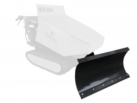 BAMATO höhenverstellbares Schneeschild für Raupendumper MTR-500H und MTR-500PRO