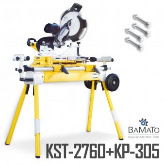 BAMATO Zug- Kapp- und Gehrungssäge KP-305 + Maschinenständer KST-2760